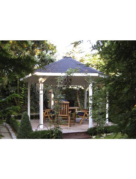 WEKA Sitzlaube »Paradies 2«, sechseckdach|zeltdach, sechseckig, BxT: 399 x 461 cm, inkl. Dacheindeckung