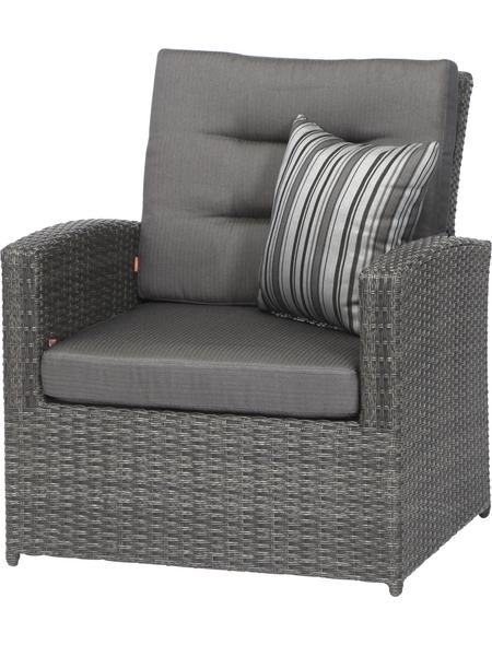 SIENA GARDEN Sitzmöbel »Porto«, BxTxH: 83  x 80  x 89  cm, Polyrattan