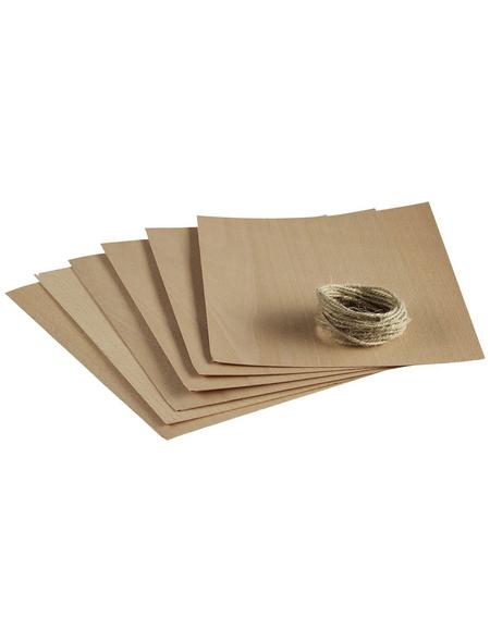 MR. GARDENER Smoking Wraps, Buche, rechteckig