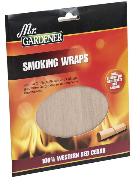 MR. GARDENER Smoking Wraps, Wester Red Cedar, rechteckig