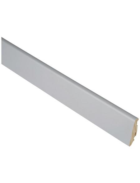 FN NEUHOFER HOLZ Sockelleiste, Aluminium silberfarben, MDF, LxHxT: 240 x 5,8 x 1,9 cm