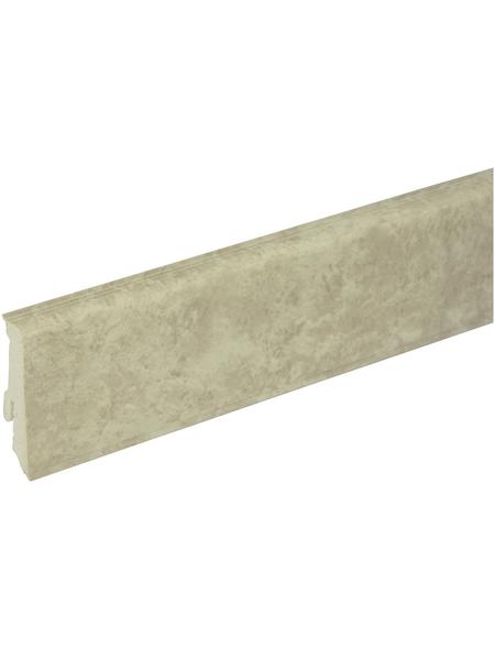 FN NEUHOFER HOLZ Sockelleiste, Azurre grau, PVC, LxHxT: 240 x 5,9 x 1,7 cm