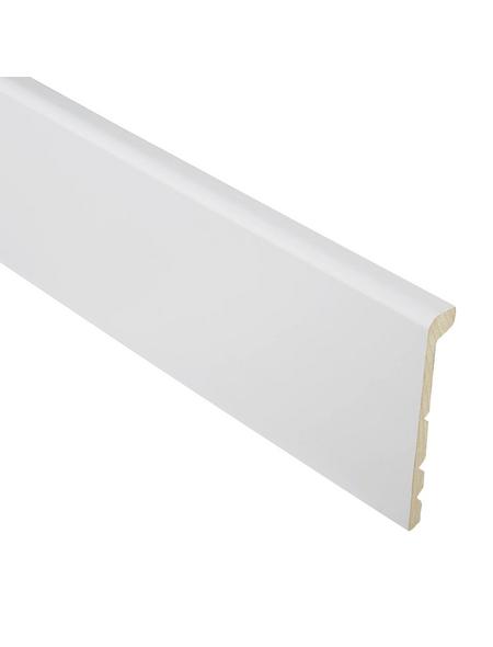 FN NEUHOFER HOLZ Sockelleiste »cut-pro«, Uni weiß, MDF, LxHxT: 240 x 13,8 x 2,6 cm