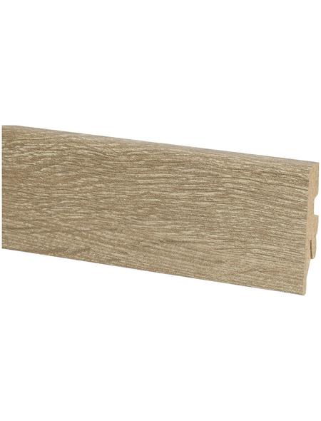 KAINDL Sockelleiste, Eiche braun, HDF, LxHxT: 260 x 6 x 2 cm