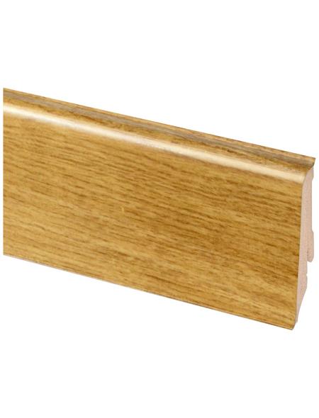 RENOVO Sockelleiste, Eiche braun, Kunststoff, LxHxT: 240 x 5,9 x 1,7 cm