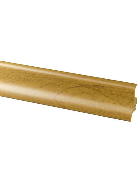 FN NEUHOFER HOLZ Sockelleiste, Eiche braun, Kunststoff, LxHxT: 250 x 4,8 x 2,1 cm