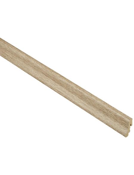 FN NEUHOFER HOLZ Sockelleiste, Eiche braun, MDF, LxHxT: 240 x 3,8 x 1,85 cm
