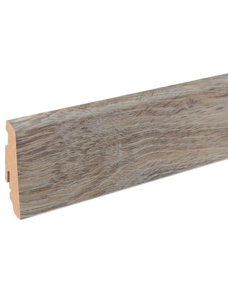 RENOVO Sockelleiste, Eiche grau, MDF, LxHxT: 240 x 5,8 x 1,9 cm