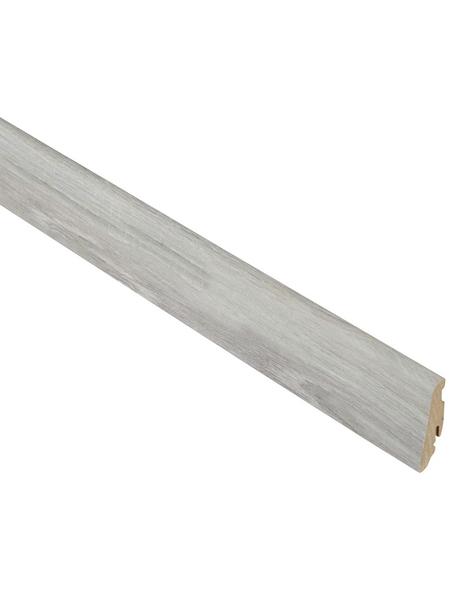 FN NEUHOFER HOLZ Sockelleiste, Eiche grau, MDF, LxHxT: 240 x 5,8 x 1,9 cm