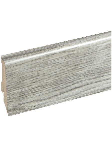 RENOVO Sockelleiste, Eiche grau, PVC, LxHxT: 240 x 5,9 x 1,7 cm