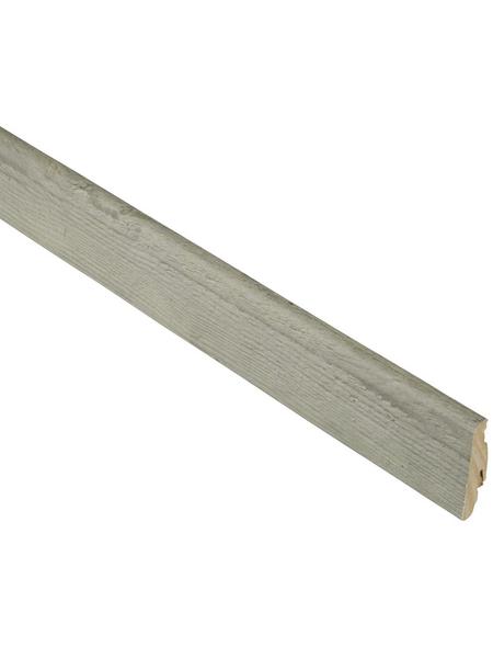 FN NEUHOFER HOLZ Sockelleiste, Eiche graubraun, MDF, LxHxT: 240 x 5,8 x 1,9 cm
