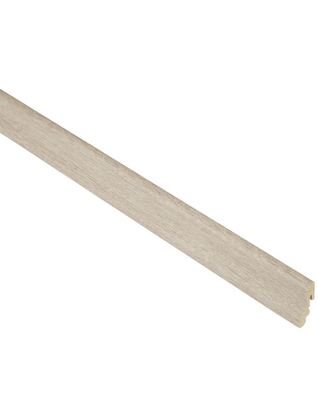 FN NEUHOFER HOLZ Sockelleiste, Eiche natur, MDF, LxHxT: 240 x 3,8 x 1,85 cm