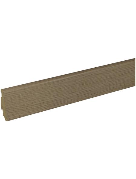 FN NEUHOFER HOLZ Sockelleiste, eichefarben, MDF, LxHxT: 240 x 5,8 x 1,9 cm