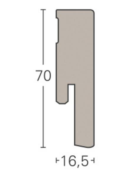 PARADOR Sockelleiste, Esche, BxH: 16,5 x 70 mm