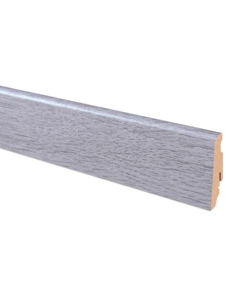 FN NEUHOFER HOLZ Sockelleiste, Esche grau, MDF, LxHxT: 240 x 5,8 x 1,9 cm