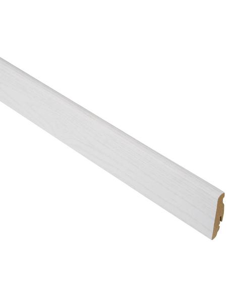 FN NEUHOFER HOLZ Sockelleiste, Esche weiß, MDF, LxHxT: 240 x 5,8 x 1,9 cm