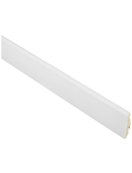 FN NEUHOFER HOLZ Sockelleiste, Fichte weiß, Fichtenholz, LxHxT: 250 x 5,8 x 1,9 cm