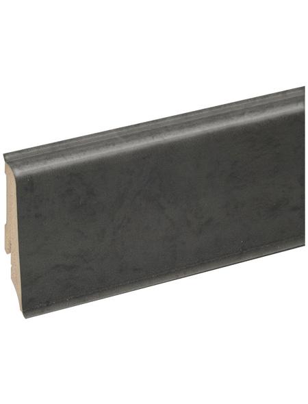FN NEUHOFER HOLZ Sockelleiste, Holzoptik anthrazitgrau, PVC, LxHxT: 240 x 5,9 x 1,7 cm