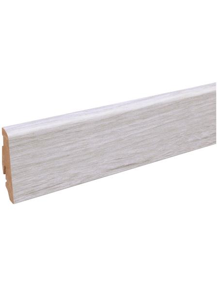 FN NEUHOFER HOLZ Sockelleiste, Holzoptik eichefarben/weiß, MDF, LxHxT: 240 x 5,8 x 1,9 cm