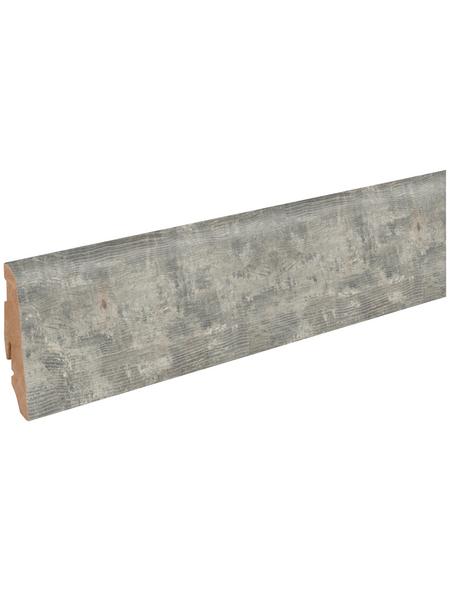 FN NEUHOFER HOLZ Sockelleiste, Holzoptik Kiefer/weiß, MDF, LxHxT: 240 x 5,8 x 1,9 cm
