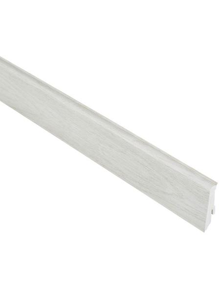 RENOVO Sockelleiste, Kiefer grau, PVC, LxHxT: 240 x 5,9 x 1,7 cm