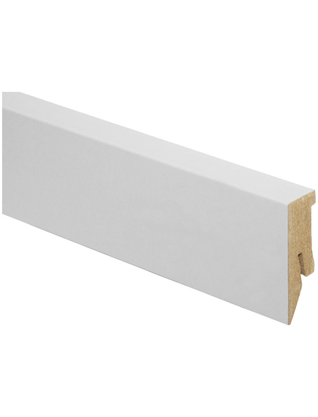 KAINDL Sockelleiste, Kiefer weiß, HDF, 260 x 5 x 1,8 cm