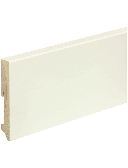 FN NEUHOFER HOLZ Sockelleiste, Kiefer weiß, Kiefernholz, LxHxT: 240 x 11,5 x 1,8 cm