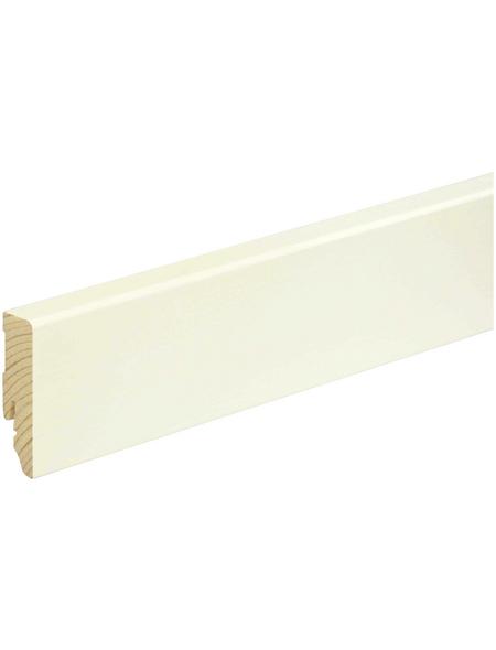FN NEUHOFER HOLZ Sockelleiste, Kiefer weiß, Kiefernholz, LxHxT: 240 x 5,8 x 1,6 cm