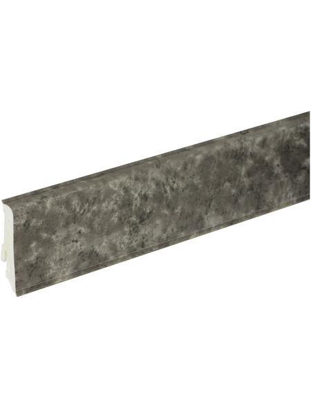 FN NEUHOFER HOLZ Sockelleiste, Lava grau, PVC, LxHxT: 240 x 5,9 x 1,7 cm