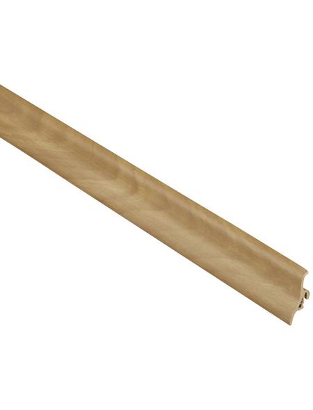 FN NEUHOFER HOLZ Sockelleiste, Nussbaum natur, Kunststoff, LxHxT: 250 x 4,8 x 2,1 cm