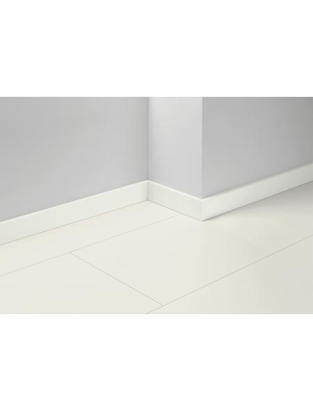 PARADOR Sockelleiste »SL 18«, Uni weiß, MDF, 257 x 7 x 1,65 cm
