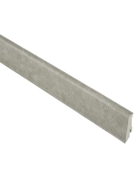 FN NEUHOFER HOLZ Sockelleiste, Stein grau, PVC, LxHxT: 240 x 5,9 x 1,7 cm