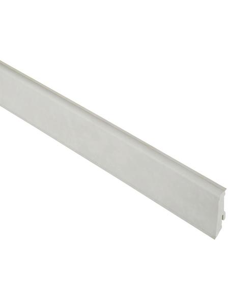 FN NEUHOFER HOLZ Sockelleiste, Stein weiß, PVC, LxHxT: 240 x 5,9 x 1,7 cm