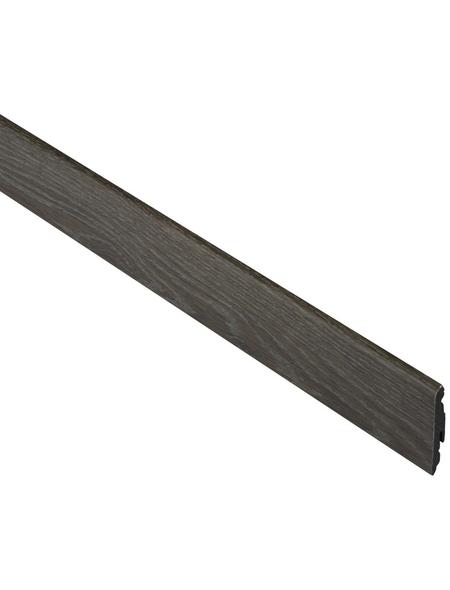 FN NEUHOFER HOLZ Sockelleiste, Uni natur, Kunststoff, LxHxT: 240 x 5,8 x 1,4 cm