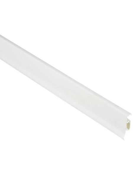 FN NEUHOFER HOLZ Sockelleiste, Uni weiß, Kunststoff, LxHxT: 250 x 5 x 2,25 cm
