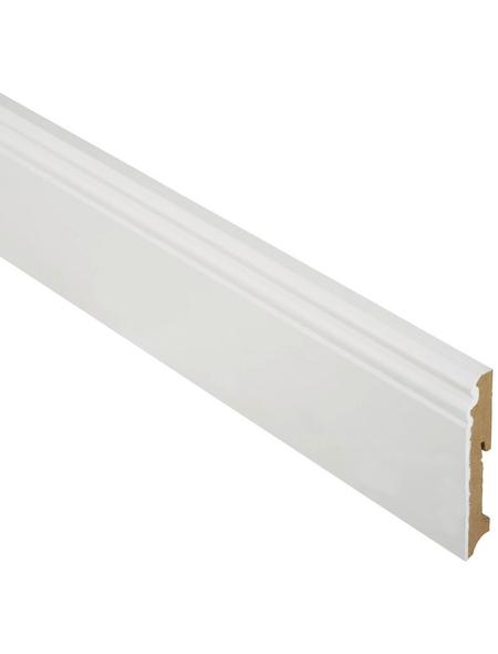 FN NEUHOFER HOLZ Sockelleiste, Uni weiß, MDF, LxHxT: 240 x 11,1 x 1,9 cm