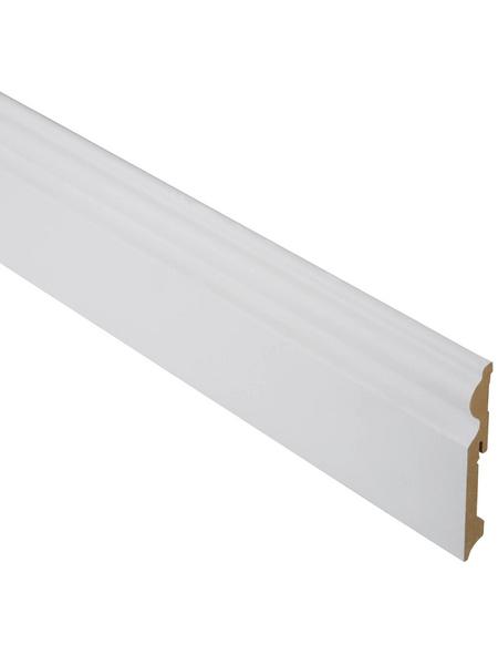 FN NEUHOFER HOLZ Sockelleiste, Uni weiß, MDF, LxHxT: 240 x 11,5 x 1,5 cm