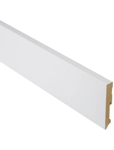 FN NEUHOFER HOLZ Sockelleiste, Uni weiß, MDF, LxHxT: 240 x 12 x 1,9 cm