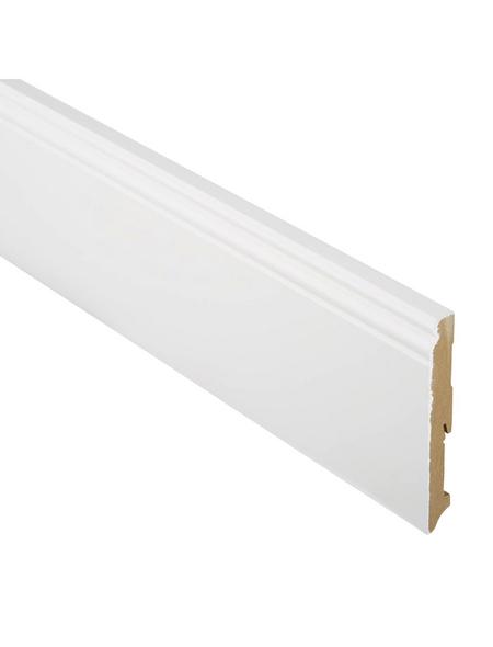 FN NEUHOFER HOLZ Sockelleiste, Uni weiß, MDF, LxHxT: 240 x 14 x 1,9 cm