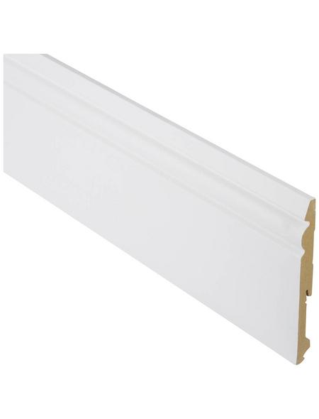 FN NEUHOFER HOLZ Sockelleiste, Uni weiß, MDF, LxHxT: 240 x 15 x 1,5 cm