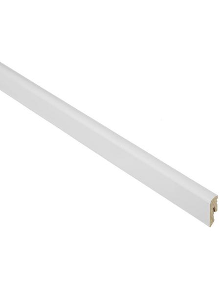 FN NEUHOFER HOLZ Sockelleiste, Uni weiß, MDF, LxHxT: 240 x 4,2 x 1,2 cm
