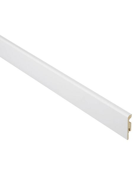 FN NEUHOFER HOLZ Sockelleiste, Uni weiß, MDF, LxHxT: 240 x 5,8 x 1 cm