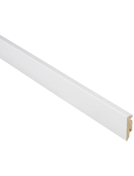 FN NEUHOFER HOLZ Sockelleiste, Uni weiß, MDF, LxHxT: 240 x 5,8 x 1,5 cm