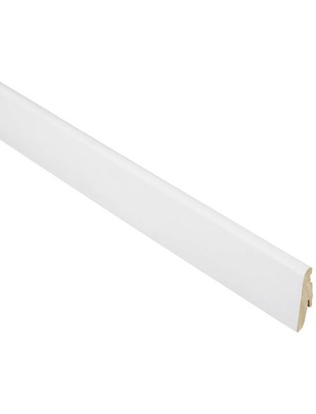 FN NEUHOFER HOLZ Sockelleiste, Uni weiß, MDF, LxHxT: 240 x 5,8 x 1,9 cm
