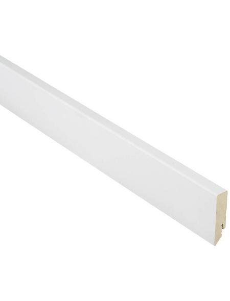 FN NEUHOFER HOLZ Sockelleiste, Uni weiß, MDF, LxHxT: 240 x 7 x 1,6 cm