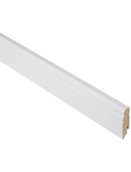 FN NEUHOFER HOLZ Sockelleiste, Uni weiß, MDF, LxHxT: 240 x 7 x 1,8 cm
