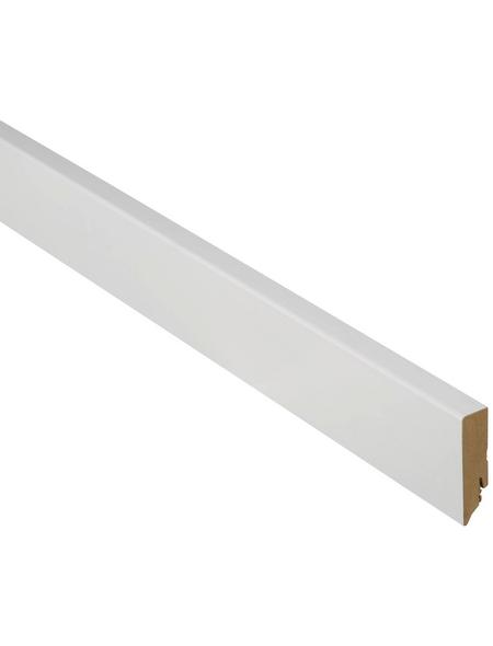 FN NEUHOFER HOLZ Sockelleiste, Uni weiß, MDF, LxHxT: 240 x 7 x 1,9 cm