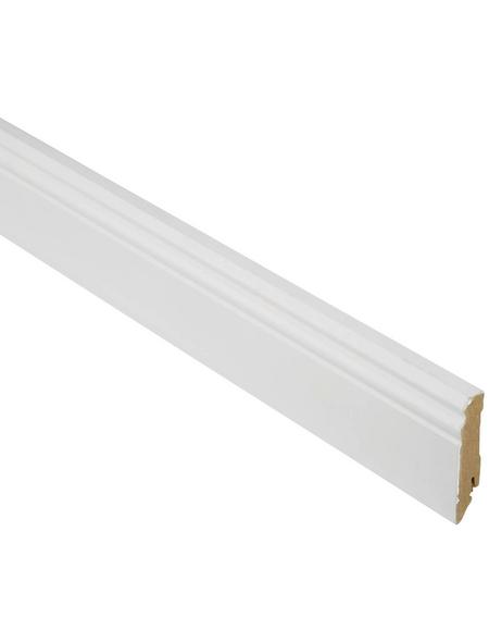 FN NEUHOFER HOLZ Sockelleiste, Uni weiß, MDF, LxHxT: 240 x 8 x 1,9 cm