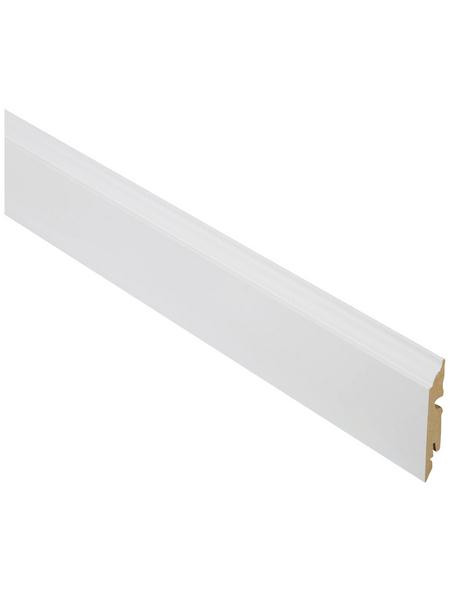FN NEUHOFER HOLZ Sockelleiste, Uni weiß, MDF, LxHxT: 240 x 8,2 x 1,3 cm