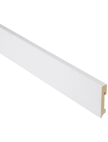 FN NEUHOFER HOLZ Sockelleiste, Uni weiß, MDF, LxHxT: 240 x 9 x 1,6 cm